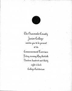 1930 Commencement Invitation [UA11.3}