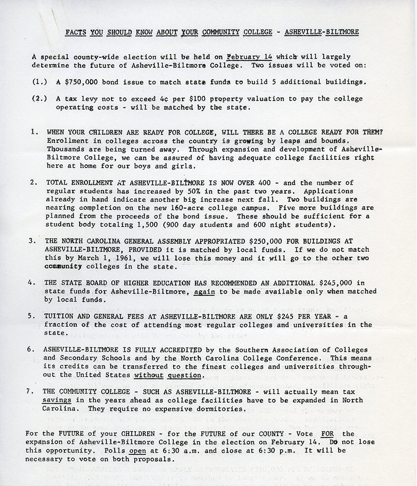 1961 fact sheet