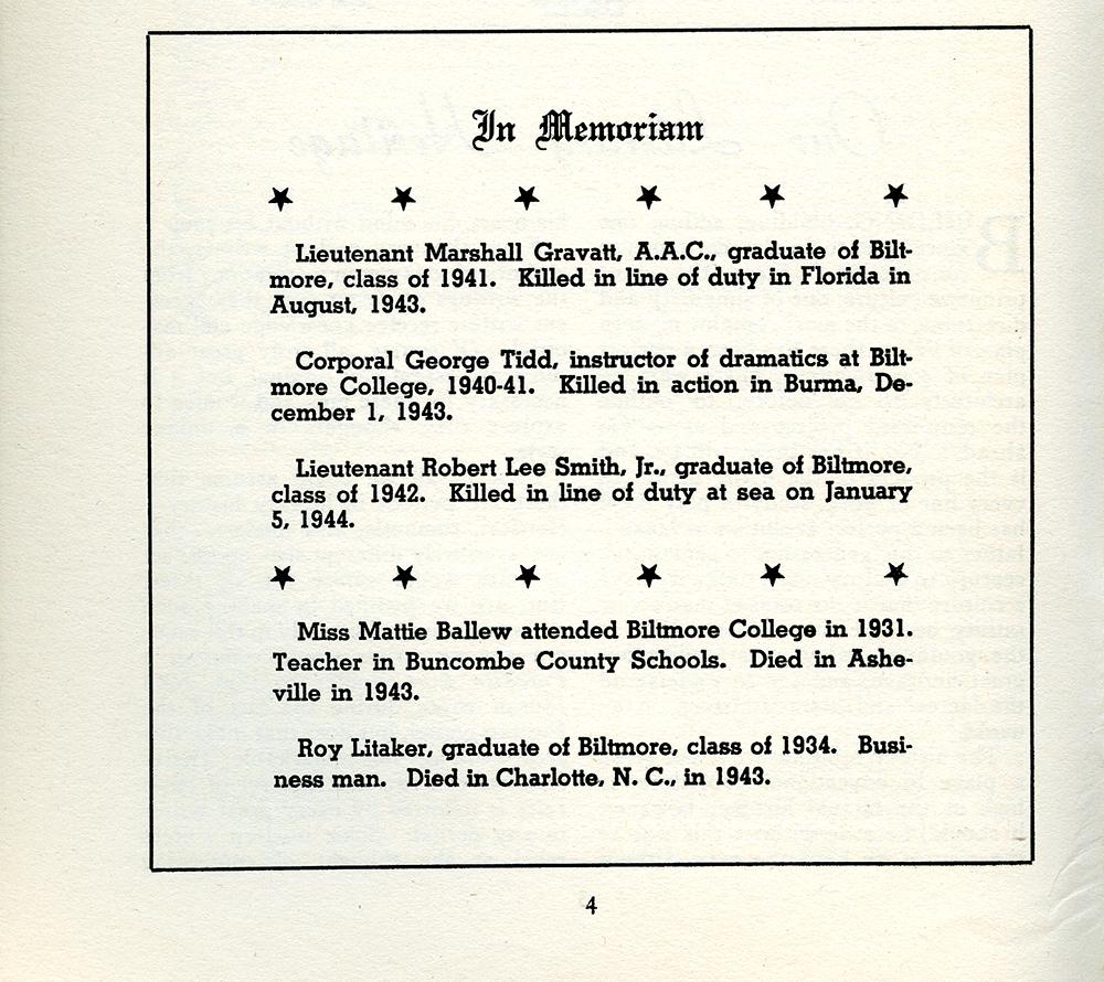 In Memoriam, 1944