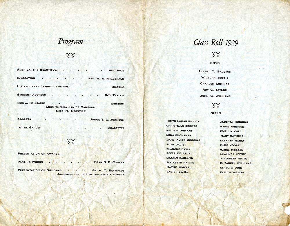 1929 Commencment