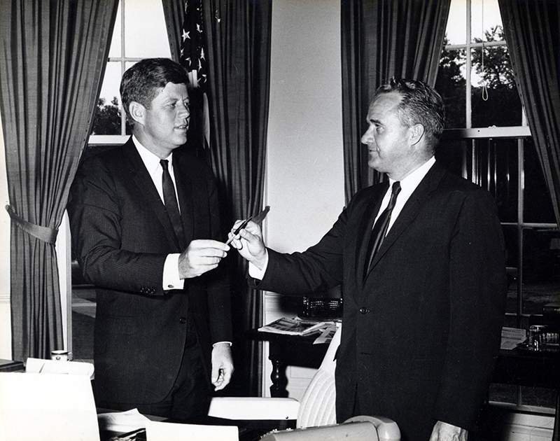 JFK and Roy Taylor